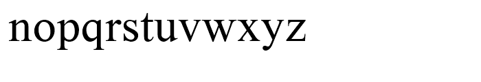 Theodore Font LOWERCASE