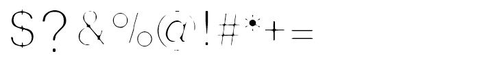 Thin Man Regular Font OTHER CHARS