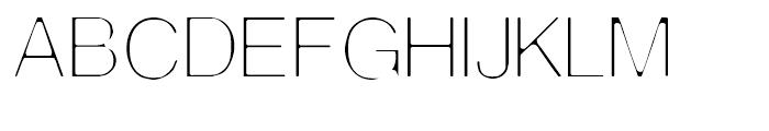 Thin Man Regular Font UPPERCASE
