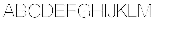 Thin Man Regular Font LOWERCASE