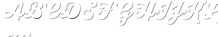 Thirsty Script Black Shadow Font UPPERCASE