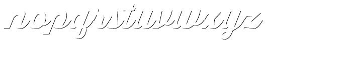 Thirsty Script Black Shadow Font LOWERCASE