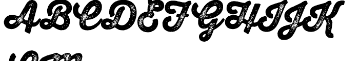 Thirsty Script Rough Black Two Font UPPERCASE