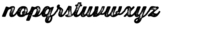 Thirsty Script Rough Black Two Font LOWERCASE