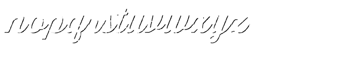 Thirsty Script Rough Bold Shadow Font LOWERCASE