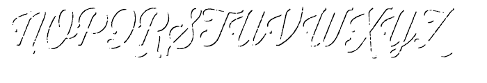 Thirsty Script Rough Light Shadow Font UPPERCASE