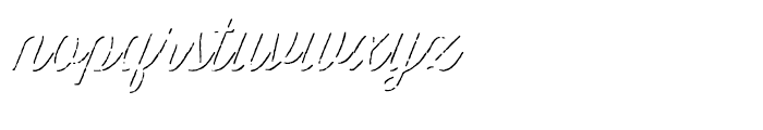 Thirsty Script Rough Light Shadow Font LOWERCASE