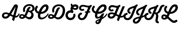 Thirsty Soft Regular Bold Font UPPERCASE