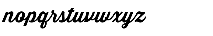 Thirsty Soft Regular Bold Font LOWERCASE