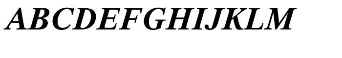 Thorndale Bold Italic Font UPPERCASE
