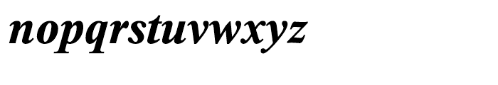 Thorndale Bold Italic Font LOWERCASE