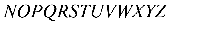 Thorndale Italic Font UPPERCASE