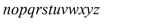 Thorndale Italic Font LOWERCASE
