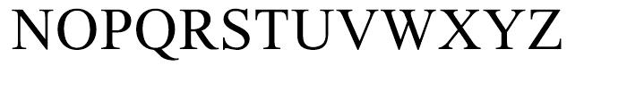 Thorndale Regular Font UPPERCASE