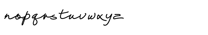 Thought Linear45 Font LOWERCASE