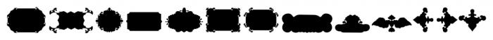 The Black Shapes Regular Font LOWERCASE