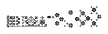 The Carpenter Patterns Font LOWERCASE