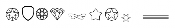 The Carpenter Pictograms Font OTHER CHARS