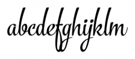 The Carpenter Regular Font LOWERCASE
