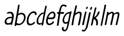 The Cat's Whiskers Italic Font LOWERCASE