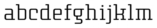 Thousands Light Font LOWERCASE