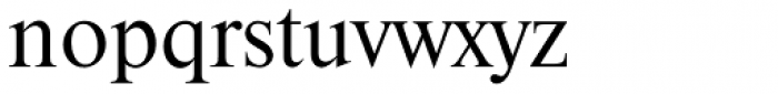 Thames Serial Font LOWERCASE