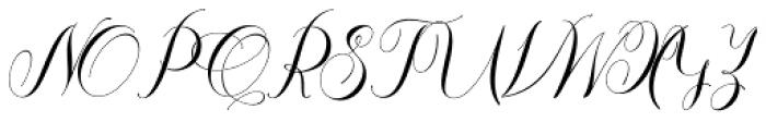 Thamron Regular Font UPPERCASE