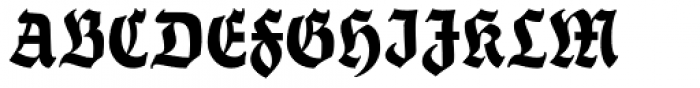 Thannhaeuser Fraktur Bold Condensed Font UPPERCASE