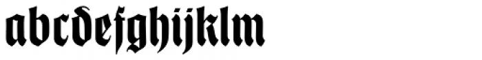 Thannhaeuser Fraktur Bold Condensed Font LOWERCASE