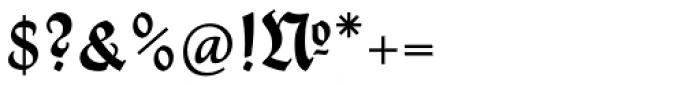 Thannhaeuser Fraktur DemiBold Font OTHER CHARS