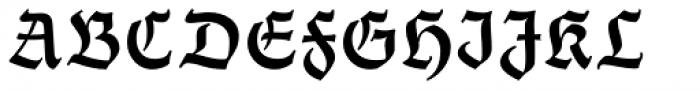 Thannhaeuser Fraktur DemiBold Font UPPERCASE