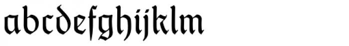 Thannhaeuser Fraktur Font LOWERCASE