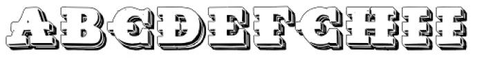 Tharagaverung Shadow Font UPPERCASE