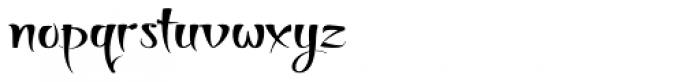 Thaun Wide Font LOWERCASE