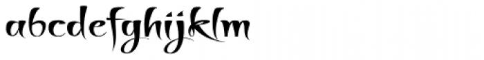 Thaun Wider Font LOWERCASE