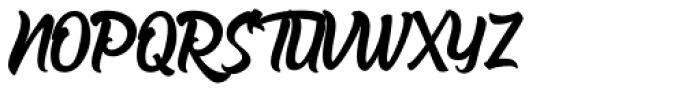 The Barethos Regular Font UPPERCASE