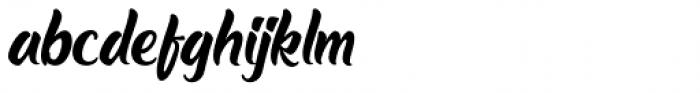 The Barethos Regular Font LOWERCASE