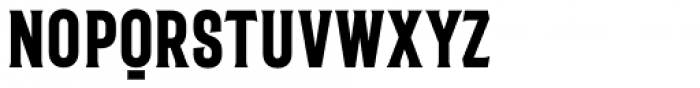 The Bartender Condensed Serif Font UPPERCASE