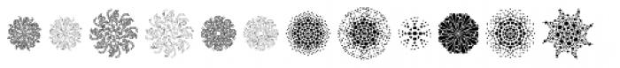 The Carpenter Patterns Font UPPERCASE