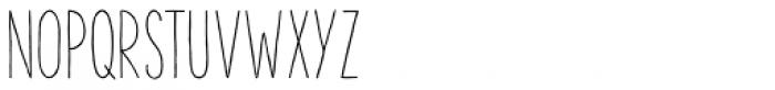 The Hand Regular Font UPPERCASE