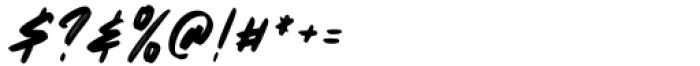 The Monster Regular Font OTHER CHARS