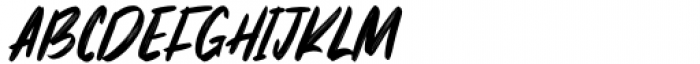 The Monster Regular Font UPPERCASE