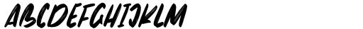 The Monster Regular Font LOWERCASE