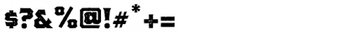The Pretender Medium Serif Press Font OTHER CHARS