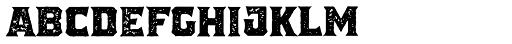 The Pretender Medium Serif Press Font UPPERCASE
