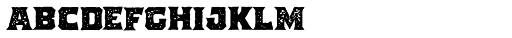 The Pretender Medium Serif Press Font LOWERCASE