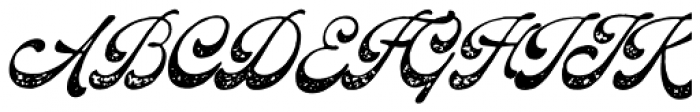 The Pretender Script Press Font UPPERCASE