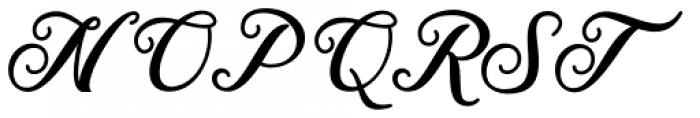 The Red Devil Script Regular Font UPPERCASE