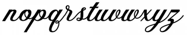 The Red Devil Script Regular Font LOWERCASE