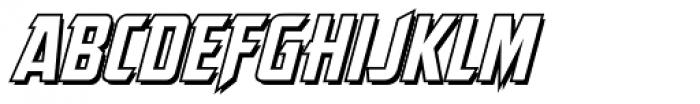 The Story So Far Outline Italic Font UPPERCASE